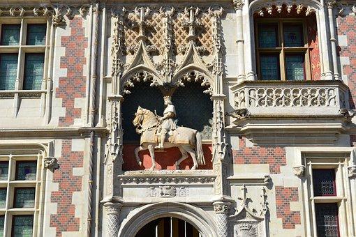 Blois, Louis Xii, Equestrian Statue, Porcupine, Castle