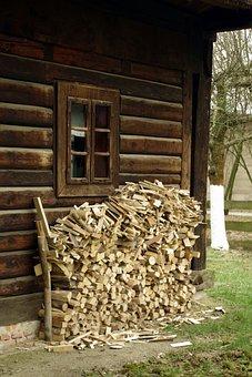 Wood, Fuel, Old Cottage, Firewood, Pile Of Wood, Logs