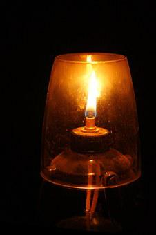 Oil Lamp, Wick, Flame, Illuminate, Oil, Light, Glass