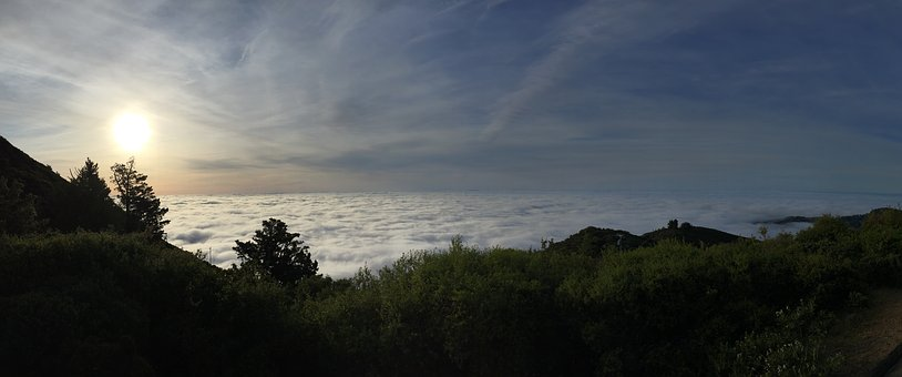 Mount Tamalpais, Fog, Above Fog, Sunrise, Hiking