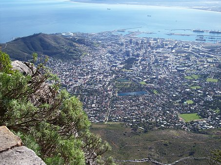 Cape Town, Town, South Africa, Table, Mountain, Ocean