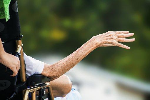 Hospice, Wrinkled Hand, Elderly, Old, Senior, Patient