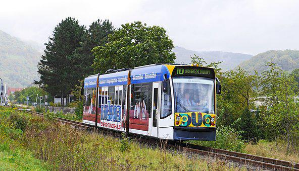 Tram, Hybrid, Battery, Pantograph, Surrounding Area