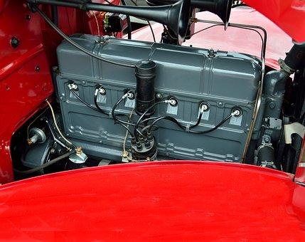 Vintage Car, Engine, Antique, Retro, Restored