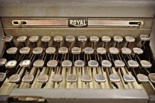 Vintage, Antique, Typewriter, Historic, History, Old