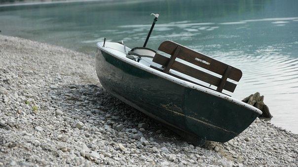 Boot, Bank, Lake, Water, Beach, Rowing Boat, Holiday
