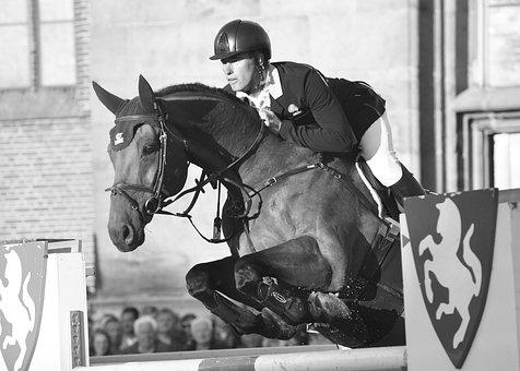 Horse, Man, Jump, Equestrian, Horse Jumping