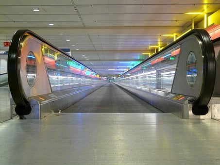 Entrance, Entry, Handrails, Moving Walkway