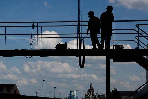 Construction Worker, Workers, Working At Height, Bridge