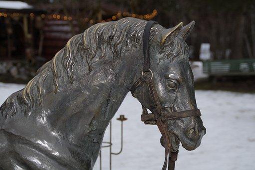Horse, Horse Head, Portrait, Sculpture, Animal