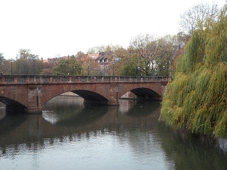 Nuremberg, Old Town, Pegnitz, Bridge, Autumn, River