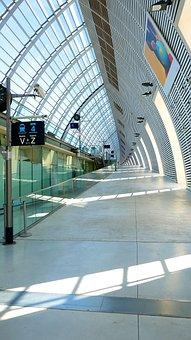 Train, Station, Avignon, Tgv, France, Transportation