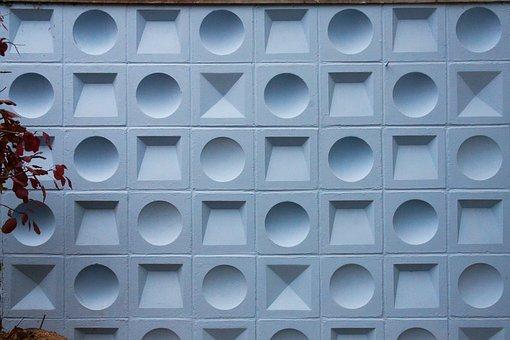 Wall, Concrete, Cast Concrete, Geometric, District