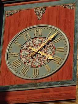 Clock, Old, Fill Up, France, Church, Needles, Tower