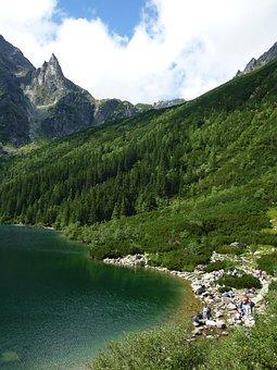 Morskie Oko, Tatry, Mountains, Monk, Lake