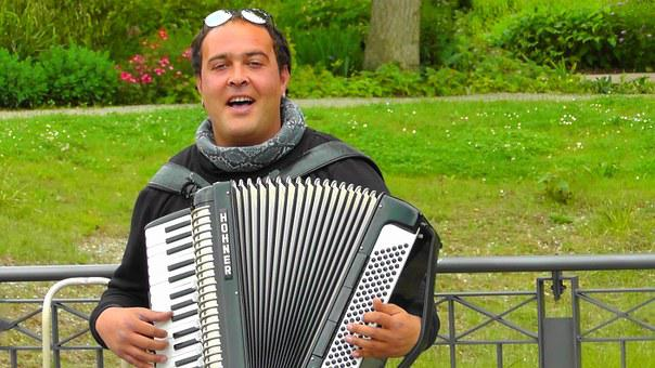 Accordion Player, Accordion, Musician, Music, Melody