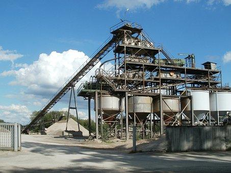 Gravel, Quarry, Plant, Kronau, Pit, Industry