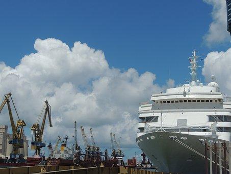 Ship, Harbor, Port, Transport, Transportation, Shipping