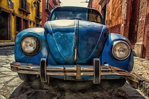 Automobile, Beetle, Car, Classic, Pavement, Vehicle