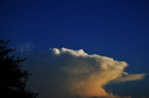 Anvil Cloud, Cloud, Flat, Anvil, White, Lit, Tinted