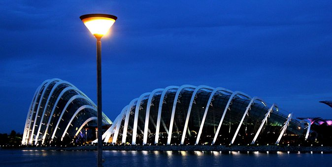 Singapore, Architecture, Lights, Travel, Tour, Place