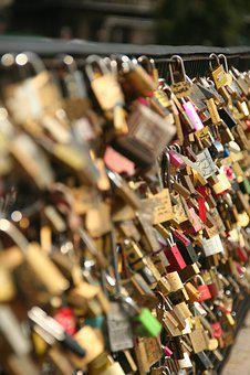 Bridge, Love Padlock, Paris