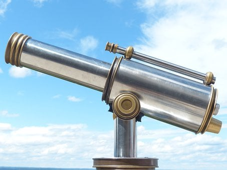 Telescope, By Looking, View, Binoculars, Optics