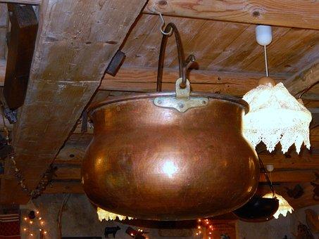 Cauldron, Copper, Former, Farm