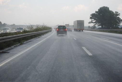 Hydroplaning, Highway, Germany, Asphalt, Driving School