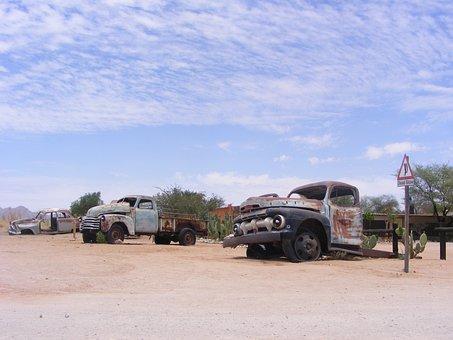 Cars, Rust, Desert, Rusty, Old, Metal, Vehicle