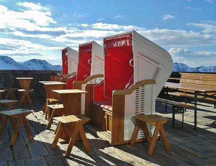 Clubs, Ski Holiday, Sun Terrace, Beach Chair, Travel