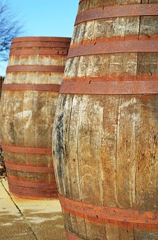 Wood, Barrels, Containers, Decorations, Wine, Whiskey
