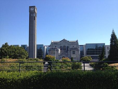 Clocktower, University, British Columbia, Library, Old