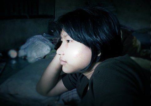 Girl, Person, Face, Looking, Thinking, Sad, In Thoughts