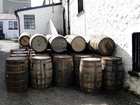 Whiskey Barrels, Wooden Barrels, Whisky, Islay