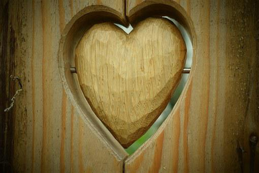 Heart, Wood, Nature, Wooden Structure