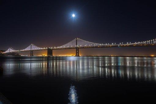 San Francisco, Bay Bridge, Bay, Bridge, California