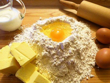 Bake, Ingredients, Butter, Egg, Flour, Spelled Flour