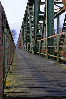 Bridge, Railway, Old, Ostfriesland, Ems, Landmark