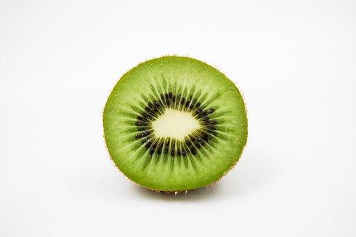 Kiwi, Fruit, Vitamins, Healthy Eating, Half, Green