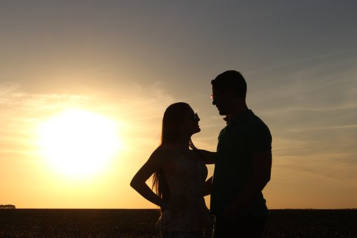 Love Story, Silhouette, Sunset, Boyfriends, Casal, Love