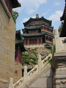 Pekin, Summer Palace, Pagoda, China, Chinese