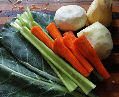 Root Vegetables, Collard Greens, Celery, Carrots
