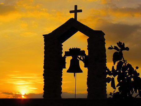 Belfry, Sunset, Clouds, Sun, Sunlight, Shadows, Church