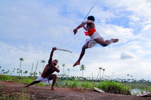 Kerala, Traditional, India, Kalaripayattu, Martial Art