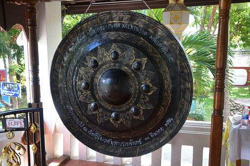 Gong, Strike, Bell, Sound, Music, Metal, Antique, Asian