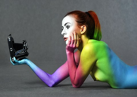 The Act Of, Selfie, Girl, Colors, Woman Is Variable