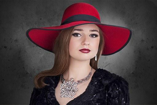 Woman, Hat, The Elegance, Jewelry, Silver, Shopping