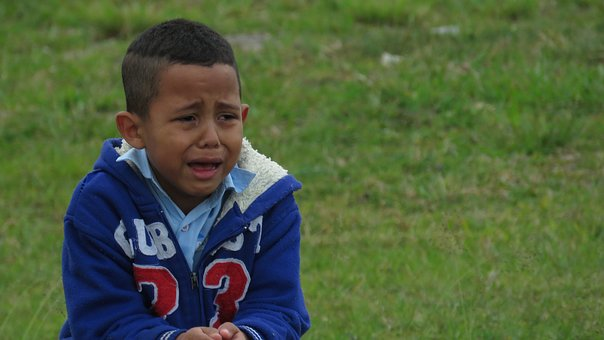 Child Crying, Park, Alone, Kid, Lost, Emotions, Guy