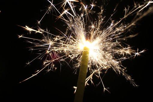 Sparklers, Fireworks, Celebrate, July 4th, Freedom